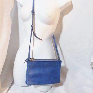 CELINE PARIS Leather TRIO Crossbody Zip Bag Purse